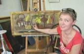 18 мая 2012 г. Всемирный  день  музеев. Выставка  батика -художник  Н. Сюзева.